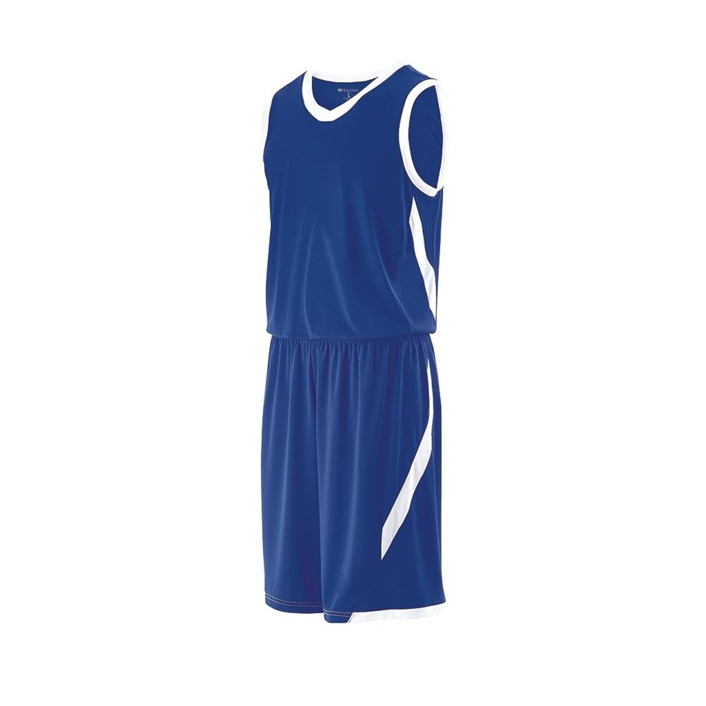 Holloway Youth Lateral Dry Excell Basketball Jersey (Youth Small, Royal/White) by Holloway