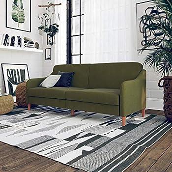 Amazon Com Novogratz Brittany Sofa Futon Premium Linen