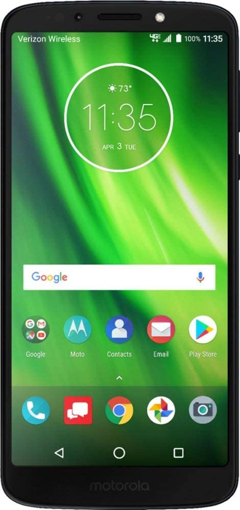 Carrier Locked to Verizon Prepaid Verizon Prepaid Motorola Moto G6 Play MOTXT19226PP with 16GB Memory 5.7 IPS TouchScreen Fingerprint Android 8.0 Oreo OS Prepaid Cell Phone