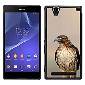 [Neutron-Star] Snap-on Series Teléfono Carcasa Funda Case Caso para Sony Xperia T2 Ultra [Hawk Blurry Sunset Nature Summer Bird]