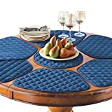 Kitchen Table Round Kitchen Table Placemat And Centerpiece Set - 7 Pc, Blue