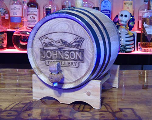 Personalized Engraved White American Oak Aging Barrels RHB141 (2 Liter) by Red Head Barrels (Image #1)