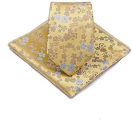 Littlefairy Hombre Designer Corbata,Anacardo Flor Lazo Bolsillo ...
