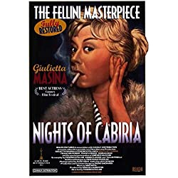 Nights of Cabiria Poster Movie 11x17 Giulietta Masina Fran?ois P?rier Amedeo Nazzari Aldo Silvani