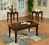 Freemont Cherry 3Pc Ocassional Table Set By Crown Mark Furniture