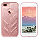 iPhone 7 Plus Case, ULAK Slim Hybrid Case Dual Layer Impact Protection Cover for Apple iPhone 7 Plus-Rose Gold