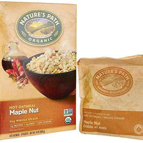 Nature's Path Organic Instant Hot Oatmeal Maple Nut -- 8 Packets