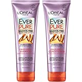 L'Oreal Paris Hair Care EverPure Frizz Defy Sulfate Free Shampoo & Conditioner Kit for Color-Treated Hair, Humidity + Frizz Control, For Frizzy Hair, (8.5 fl. oz. each)