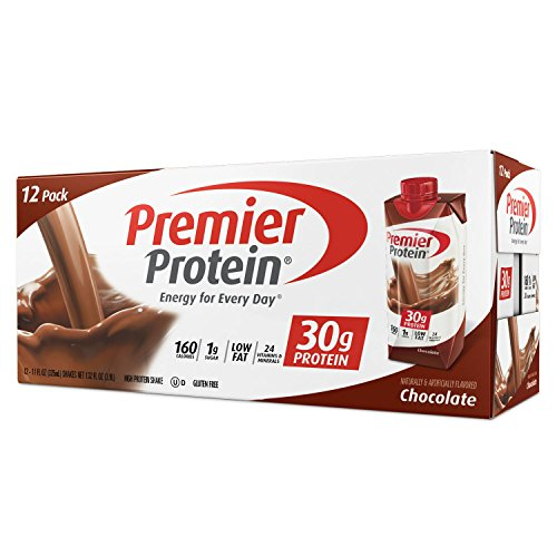 (Premier Protein 30g Protein Shakes, Chocolate 11 Fluid Ounces - Economy Special size of 12 Pack total )
