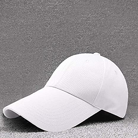 LANHAI Visera Larga 11CM béisbol algodón Color sólido en Blanco ...
