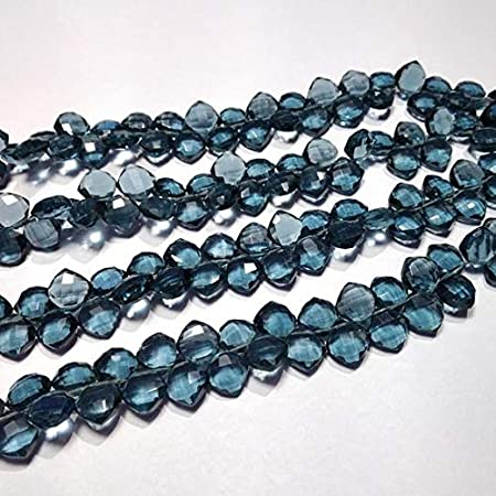 9 Inch Briolette Beads for Jewelry Making 50/% OFF Hydro Quartz Hydro Color Quartz Faceted Beads Puffed Marquise Shape 8 to 12 mm