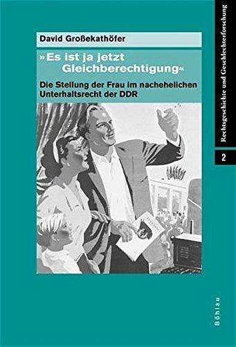 'Es ist ja jetzt Gleichberechtigung' (Rechtsgeschichte und Geschlechterforschung, Band 2) Gebundenes Buch – 1. Januar 2003 David Großekathöfer Böhlau Köln 3412186023 Recht / Allgemeines