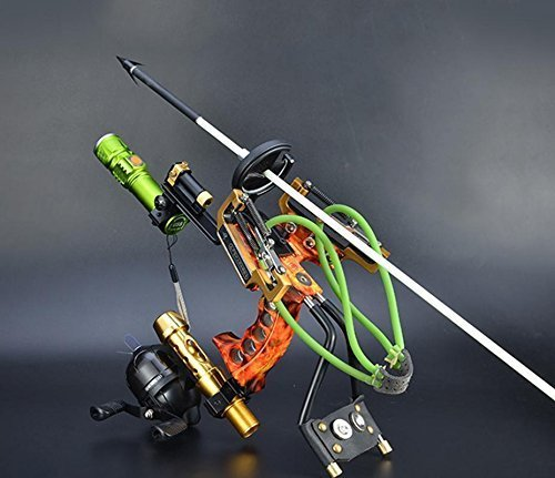 HBG Fishing Slingshot Kit Archery Slingbow Hunting Fish Folding Professional Adjustable Shooting With 6Pcs Fishing Arrows