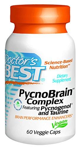 Meilleur Pycnobrain Complexe de médecin avec Pycnogenol et taurine Capsules, 60 comte