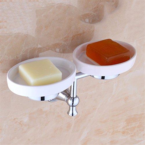 AiRobin-Brass Chrome Plated Soap Dish Wall Mounted Bathroom Accessory