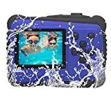 Kids Camera, Vmotal Underwater Action Camera Dust Proof Camcorder Waterproof Sports Camera HD Camcorder for Children Kids Toys with 2 Inch LCD Display (Blue)