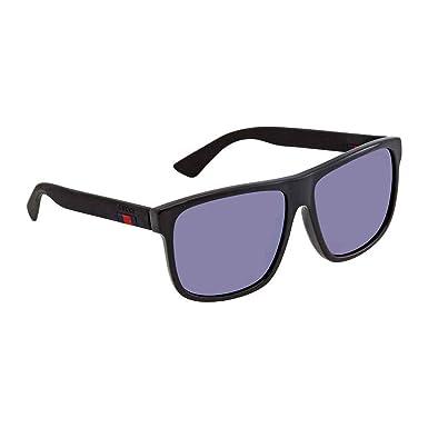 Amazon.com: Gucci gg0010sa 002 Black-Black con objetivos 59 ...