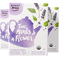 Wickedly Prime Organic Herbal Tea, Two Mints & a Flower Premium Tea Sachets, 15 Count (Pack of 3)