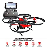 Kolibri Hellfire – Best Quadcopter Drone Wide-Angle Camera with Live Video Feed FPV 720P HD Headless Mode 2.4GHz 4 Channel 6 Axis Gyro RTF with Altitude Hold Function, Great for Beginners. For Sale