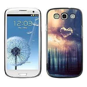 Carcasa Funda Prima Delgada SLIM Casa Case Bandera Cover Shell para Samsung Galaxy S3 I9300 / Business Style Heart Cloud Forrest