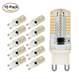 G9 LED Bulbs, Jpodream 5W 64 x 3014 SMD LED Light Bulbs Warm White 3000K, 400LM, 40W Halogen Bulbs Equivalent, AC220-240V LED Lamps - 10 Pack