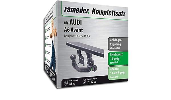 rameder Juego completo, remolque extraíble + 13POL Elektrik para Audi A6 Avant (142602 - 03395 - 1): Amazon.es: Coche y moto
