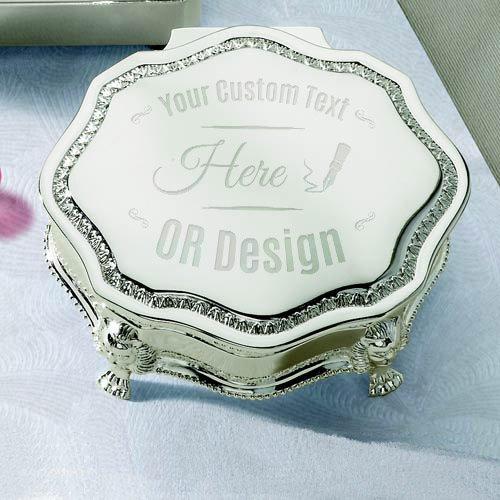 Beautiful Engravable Personalized Princess Victorian Jewelry Box
