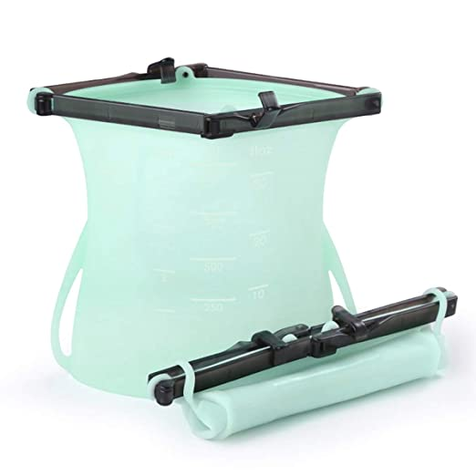 Bolsas de silicona reutilizables para almacenamiento de alimentos, bolsas herméticas para congelar el vapor, calentar microondas, frutas, verduras, ...