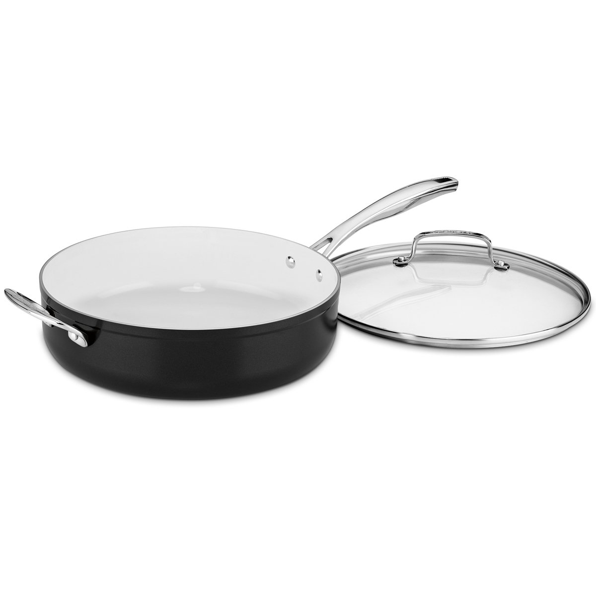 Amazon.com: Cuisinart Elements 10piece Ceramica Polar White Non Stick cookware: Kitchen & Dining