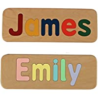 Name Puzzle - Raised Mixed Case Letters - Handmade Wooden Custom Personalized - First Birthday Gift - Educational Toy - $5.00 shipping for your entire order