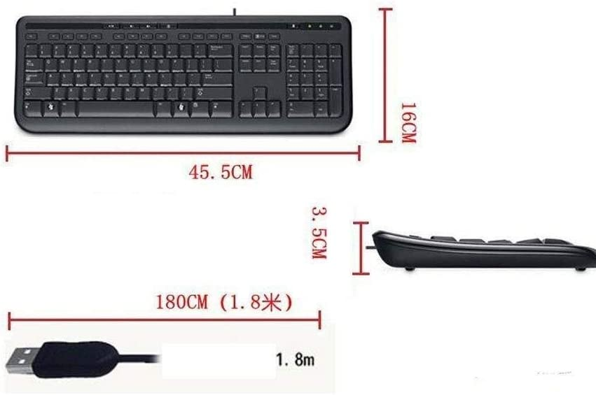 Wyyggnb Gaming Keyboard Computer USB Cable Wired Keyboard Business Office Game Learning Work Desktop Compute