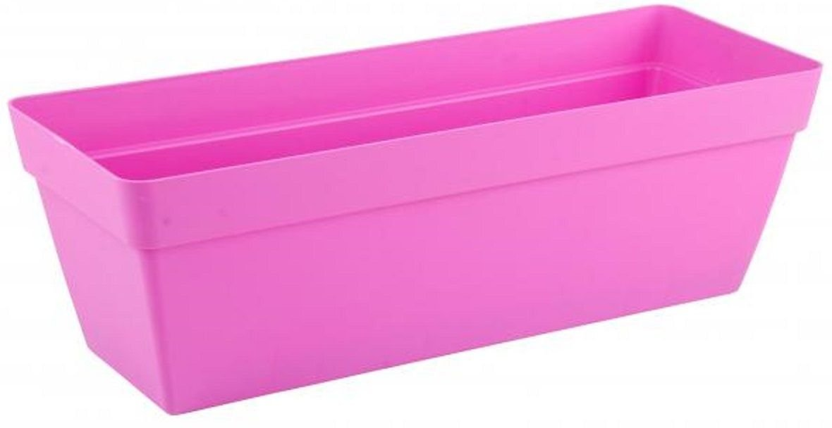 50cm Bright Colour Planters With Water Reserve Window Box Pink Green (Green) Ram 221034