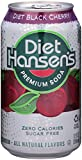 Hansen's Diet Soda Cans, Black Cherry, 12 Ounce (Pack of 24)