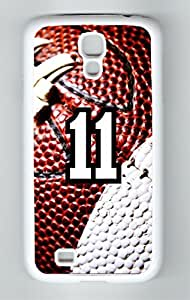 Football Sports Fan Player Number 11 White Rubber Decorative Samsung Galaxy S4 Case