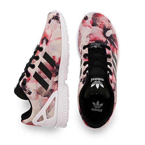 adidas ZX Flux K - Zapatillas para niño, color negro / rosa / blanco, talla 31