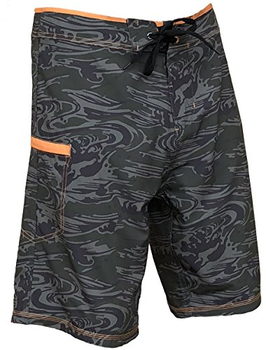 Trunks Swim Lined Hawaiian (Maui Rippers Maalaea Ripper Camo Boardshorts Swimsuit for Men | 4 Way Stretch Swim Trunks & Swimwear (40))
