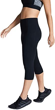 Rockwear Activewear Women's 3/4 Perforated Pocket Tight from Size 4-18 for 3/4 Length High Bottoms Leggings + Yoga Pants+ Yoga Tights