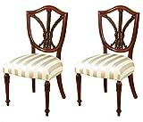 Pair of 2 Mahogany Hepplewhite Shield Back Occasional Chairs
