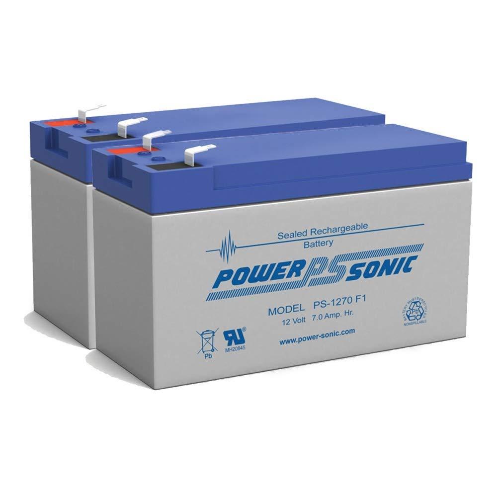 PS-1270 - POWER-SONIC 12V 7AH SLA BATTERY - PACK OF 2 by Power Sonic