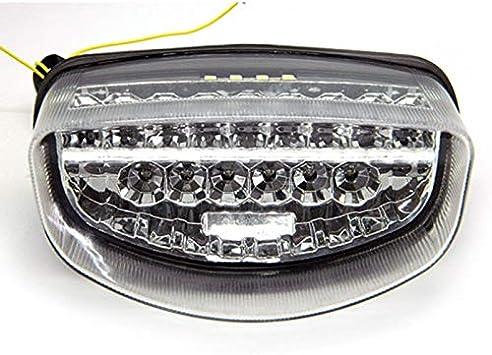 Motorrad integriertes Heckleuchten Bremslicht Blinker R/ücklicht passend f/ür Honda CBR1100XX HORNET 250 HORNET 600 Rauch