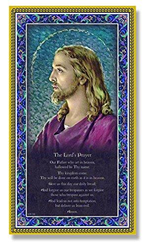 (6 7/18) THE LORD's PRAYER Fine Art Italian Plaque With Prayer 5