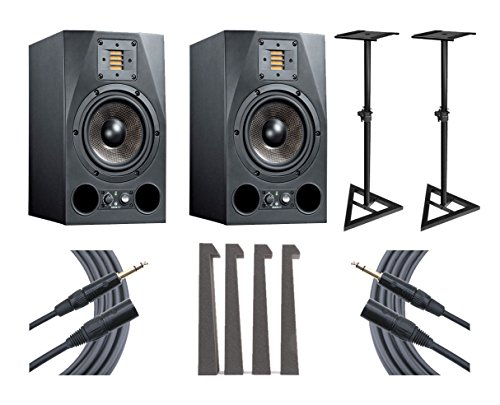 adam-a7x-studio-monitor-pair-ultimate-speaker-stands-mopads-mogami-cables