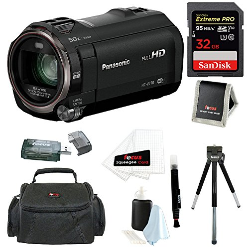 Panasonic HC-V770 HD Camcorder with Wireless Smartphone Twin Video Capture wi...