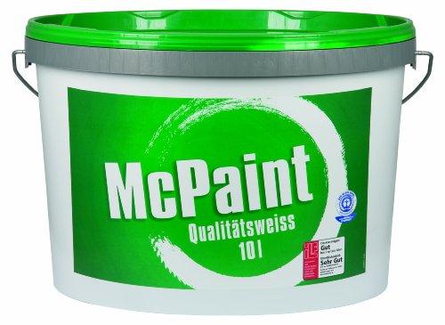 McPaint Wandfarbe Qualitätsweiß matt 10 Liter, weiß