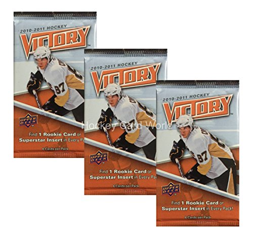 2010-11 Upper Deck Victory Hockey Hobby Pack x3 Lot. Look for Hall, Eberle, Subban, (Victory Hockey Hobby Box)