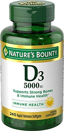 Nature's Bounty D3-5000 IU Softgels Maximum Strength 240 CP - Buy Packs and SAVE (Pack of 3) by Nature's Bounty