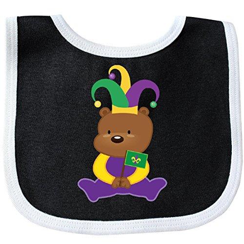 Mardis Gras Outfit (Inktastic - Mardi Gras Boys Girls Holiday Bear Baby Bib Black/White)