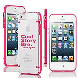 """Apple iPhone 6 Plus (5.5"""") Ultra Thin Transparent Clear Hard TPU Case Cover Cool Story Bro (Hot Pink)"""