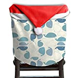 Whale Animal Christmas Chair Covers Unique Not Fade Chair Covers For Christmas For Husbands Dinner Chair Covers Holiday Festive