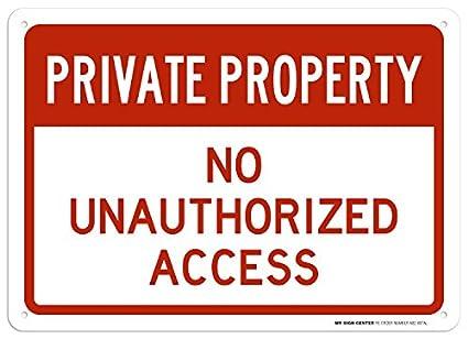 Amazon.com: Propiedad Privada sin acceso No autorizado señal ...